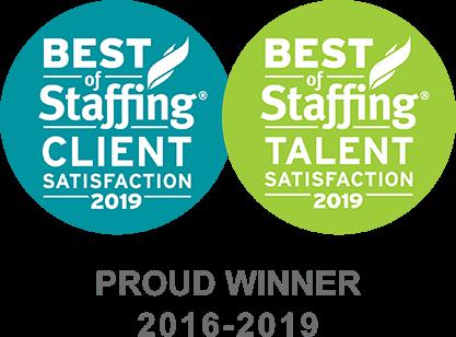 Aerotek remporte en 2019 le prix «Best Of Staffing» pour la satisfaction clientèle et talents.