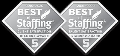 Badge du lauréat du prix Best of Staffing