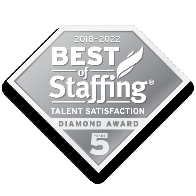 Best of Staffing Talent Satisfaction Diamond logo
